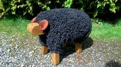 woolly sheep footstool - Google Search