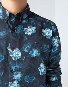 Bershka México -Camisa estampado flores