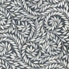 For stepping stones: 'Jaqueline Vine' water-jet-cut stone (or glass tile) mosaic by New Ravenna for bathroom, kitchen etc.