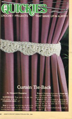 Easy Crochet Tie Back