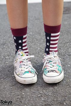 America and awesome shoes. :3