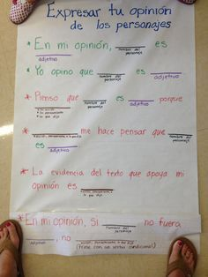 dual language anchor charts persuasive writing - Google Search
