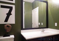 Framed Guest Bathroom Mirror from @MirrorMate Frames