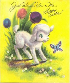 Vintage Easter Card Easter Greeting Cards, Vintage Greeting Cards, Easter Art, Easter Crafts, Easter Food, Easter Ideas, Vintage Easter, Vintage Holiday, Sheep Cards
