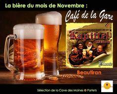 Bière Kapittel Café de la Gare Bière du mois Café Restaurant, Mugs, Tableware, Mead, Elder Flower, Catering Business, Cosmetics, Dinnerware, Tumblers
