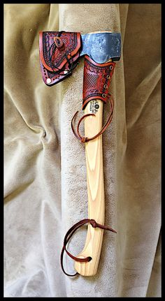 Gransfors Bruks Small Forest Axe # 420 with Custom Leather by John Black