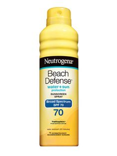 BODY Drugstores, Discount Stores   Neutrogena Beach Defense Water + Sun Protection Sunscreen Spray Broad Spectrum SPF 70, $10.49.