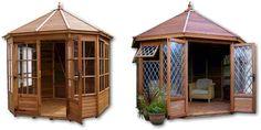Malvern Gazebo Octagonal Summerhouses - for reading in the winter...