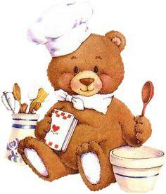 Ursinho Cozinheiro | Decoupage.net.br