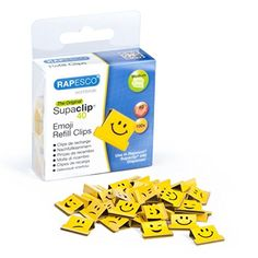 From 3.06 Rapesco Supaclip 40 Refill Clips - Emojis Pack Of 100