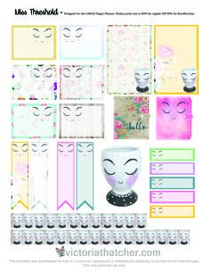 Planner & Journaling Printables ❤ Free Miss Threshold Planner Stickers   Victoria Thatcher