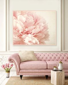 home decor ideas ideas for home home trends interior design mid century mod. home decor ideas ideas for home home trends interior design mid century modern Peonies Wallpaper, Rosa Couch, Decoration Shabby, Pink Decorations, Rustic Decor, Christmas Decorations, Living Room Decor, Bedroom Decor, Bedroom Ideas