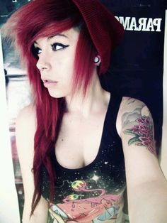 Beautiful scene girl, with red hair.