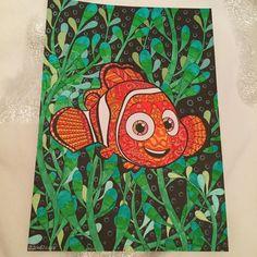 """89 mentions J'aime, 5 commentaires - Stéphanie (@sisterlove_creations) sur Instagram: """"Le gentil petit Nemo #coloringbook #livredecoloriage #colorful #coloringforadults…"""""""