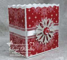 I'm including FREE instructions for this Christmas Gift Box in the newsletter that goes out next week. It's made with the Fancy Favor Die (which I never get tired of), and Be of Good Cheer Designer Series Paper. Are you a newsletter subscriber yet?  www.stampingmadly.com