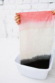 diy dip dye placemats.