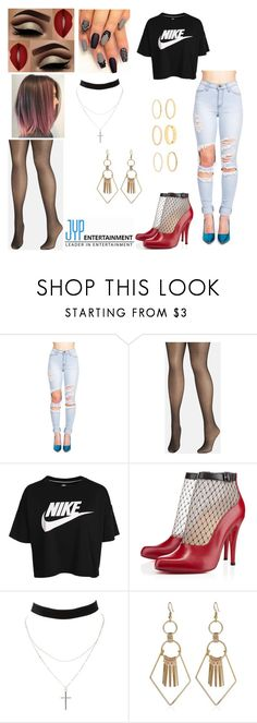 """""""Liah's Look Debut - Music """"NO"""" (Dance/MV)"""" by nutella95clc ❤ liked on Polyvore featuring Avenue, NIKE, Christian Louboutin and Charlotte Russe"""