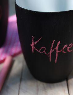 Pimp your Kaffe-Tass'  Alte Kaffeetassen mit Tafellack aufwerten