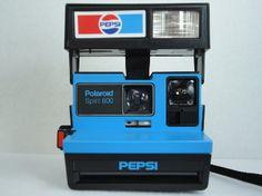 Polaroid Pepsi Camera Spirit 600 Polaroid Promotional Camera - Rare
