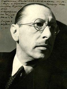 Photograph of Igor Stravinsky inscribed to  Richard Burgin, 1940.