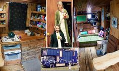There's NEIGH place like home: Dilapidated horsebox converted into a house complete with running water, a stove and furniture made from recycled materials goes on sale for £12,500