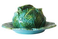 Antique Majolica Cabbage Dome on OneKingsLane.com (Estimated Market Value - $1200.00) OKL price...$949.00