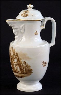 LUDWIGSBURG 19TH CENTURY PORCELAIN COVERED JUG. : Lot 1272042