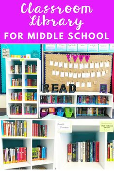 Need to organize your classroom library? This bundle is full of labels from different genres (editable ones also), a READ banner, sign in/out sheet, parent permission slip and book recommendations! Middle School Decor, Middle School Libraries, Middle School Reading, Middle School Classroom, Classroom Libraries, Classroom Ideas, Ela Classroom, Middle School Literature, High School