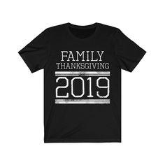 Matching Family Thanksgiving Reunion T-shirts Football Jersey Style - Black / 3XL