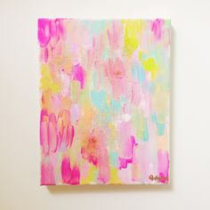 fete 8x10 abstract glitter painting by ShelbyRevisArt on Etsy