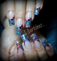 Nails.  Fashion Nails. !!!! Diseño hecho en Fashion Zone Monterrey 8348.9999. Especialistas en uñas acrílicas.