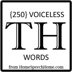 250+ Voiceless TH Words for Speech Therapy Practice