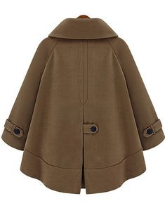 To find out about the Brown Lapel Long Sleeve Pockets Cape Outerwear at SHEIN, part of our latest Outerwear ready to shop online today! Suede Trench Coat, Wool Coat, Coats For Women, Jackets For Women, Clothes For Women, Modele Hijab, Womens Windbreaker, Denim Coat, Cape Coat