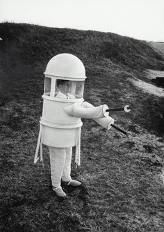 American pressure suit, designed by Republic Aviation, for extended operations on the moon's surface