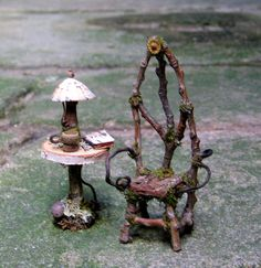 Fae Gothic Arch Chair and Reader's Table by pandorajane on Etsy, $42.00