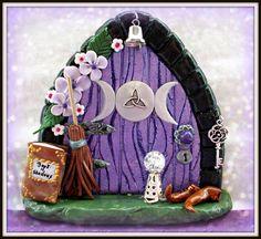 Pagan fairy door www.facebook.com/charmedfairydoors