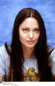 "Angelina Jolie Press junket for ""Tomb Raider"" Hollywood June 2001"
