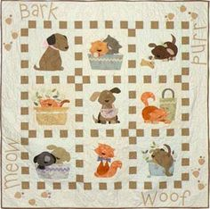 quilt patterns – including scottie dogs, poodles, puppies and more pets quilting patterns.