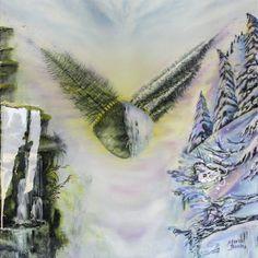 """Saatchi Art Artist Maria Bozina; Painting, """"Sky Island"""" #art Surrealism Painting, Oil On Canvas, Saatchi Art, Original Paintings, Sky, Island, Abstract, Artwork, Artist"""