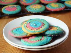 Rainbow Swirl Cookies