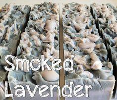 SMOKED LAVENDER SOAP - Lavender, Cedarwood & Patchouli. Simply divine.