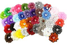 4 Crystal Gerbera Daisy Flower Head  Sold per by dressupdreams, $6.99  https://www.etsy.com/listing/101139271/4-crystal-gerbera-daisy-flower-head-sold?ref=sr_gallery_4&ga_order=date_desc&ga_view_type=gallery&ga_ref=fp_recent_more&ga_page=23&ga_search_type=all