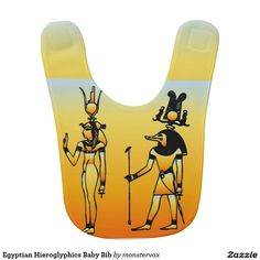 Egyptian Hieroglyphics Baby Bib #Egyptian #Egypt #Hieroglyphics #Art #Baby #Infant #Bib