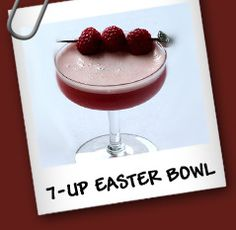 20oz frozen raspberry in syrup, 12 oz frozen lemonade concentrate, 46oz, pineapple juice, 64 oz chilled 7up (blend berries and lemonade, strain into bowl, add remaining ingred) Easter Drink, Frozen Lemonade, Pineapple Juice, Alcohol Free, Non Alcoholic, Fine Dining, Syrup, Cheers, Smoothies