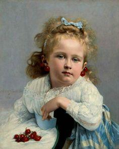 Cherries. Jules Emile Saintin (French, 1829-1894)