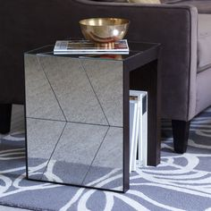 West Elm | Herringbone Mirror Side Table | for the living room