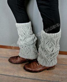 guetre femme tricot