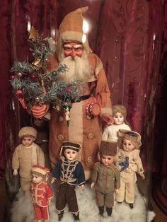 Christmas Inspiration, Spun Cotton, Old And New, Art Dolls, Santa, Magic, Ornaments, Antiques, Painting