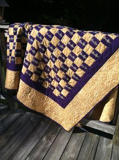 The quilt shown is completed and ready to ship.This quilt is made with recycled Crown Royal bags and cotton fabric. It is machine pieced and quilted. Crown Royal Quilt, Crown Royal Bags, Royal Pattern, Crown Crafts, The Quilt Show, Purple Quilts, Crochet Quilt, Custom Quilts, How To Make Pillows