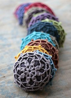 Linen brooches | Flickr - Photo Sharing!